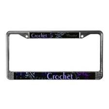 Crochet Purple License Plate Frame