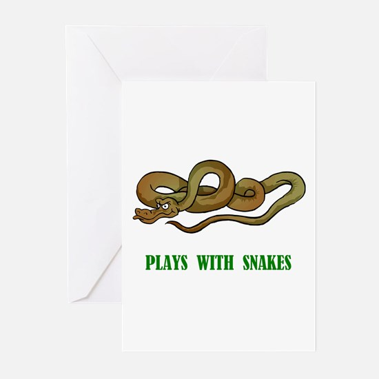 Plays With Snakes Greeting Cards (Pk of 10)