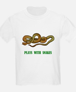 Plays With Snakes Kids T-Shirt