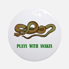 Plays With Snakes Ornament (Round)