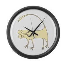 African Large Wall Clock
