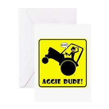 AGGIE WHEELIE Cards & Bags Greeting Card