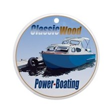The Classic Wood Power-Boatin Ornament (Round)