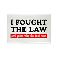 I Fought The Law Rectangle Magnet