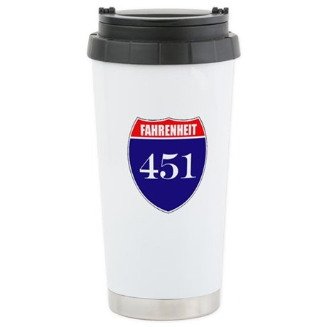 Fahrenheit Route 451 Stainless Steel Travel Mug