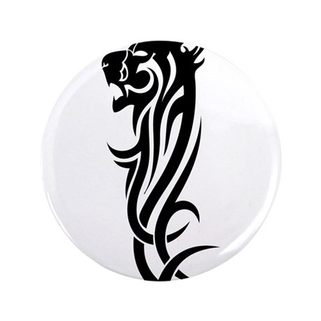 "Tribal Bobcat 3.5"" Button"