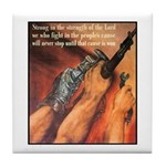 Strength of the Lord Tile Coaster