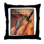 Strength of the Lord Throw Pillow