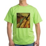 Strength of the Lord (Front) Green T-Shirt