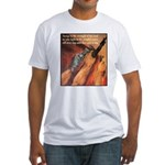 Strength of the Lord (Front) Fitted T-Shirt