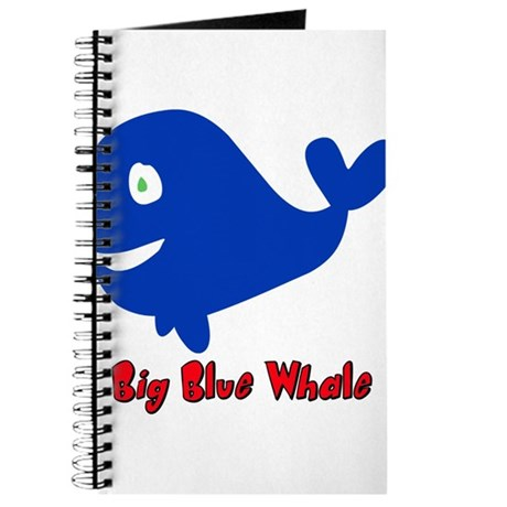 Big Cute Blue Whale Journal