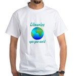 Libraries White T-Shirt
