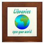 Libraries Framed Tile