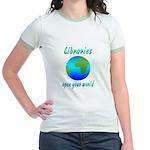 Libraries Jr. Ringer T-Shirt