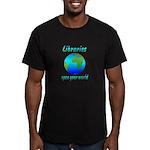 Libraries Men's Fitted T-Shirt (dark)