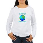 Libraries Women's Long Sleeve T-Shirt
