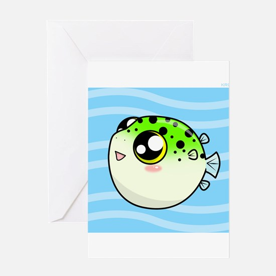 Unique Puffer Greeting Card