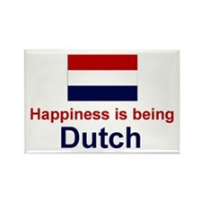 "Dutch Happiness Magnet (3""x2"")"