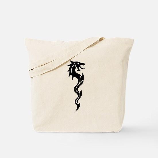 Tribal Dragon Dagger Tote Bag