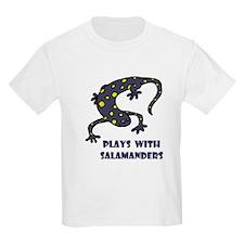 Plays With Salamanders Kids T-Shirt