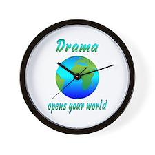 Drama Wall Clock