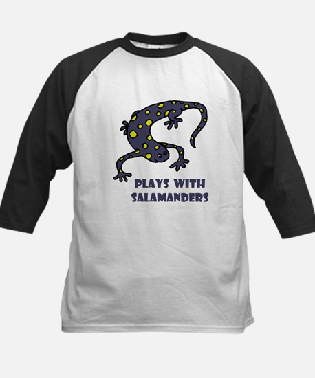 Plays With Salamanders Kids Baseball Jersey