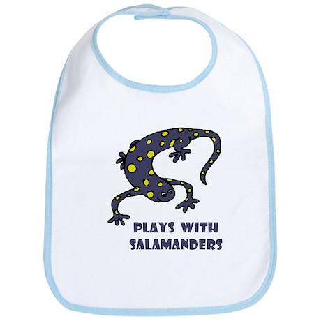 Plays With Salamanders Bib