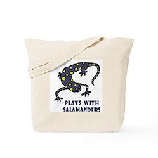 Plays With Salamanders Tote Bag