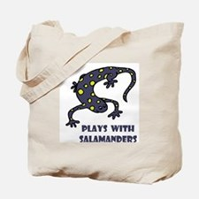 Plays With Salamanders Tote Bag