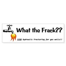 What the Frack White Bumper Stickers