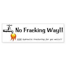 No Fracking Way White Bumper Stickers