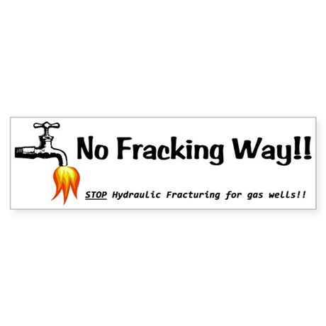 No Fracking Way White Sticker (Bumper)