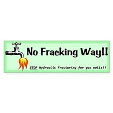 No Fracking Way Green Bumper Stickers