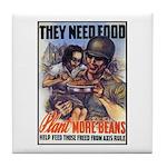 Plant More Beans Poster Art Tile Coaster
