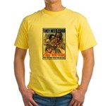 Plant More Beans Poster Art (Front) Yellow T-Shirt
