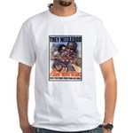 Plant More Beans Poster Art (Front) White T-Shirt