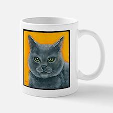 """Russian Blue Cat """"Bill the Pickle"""" Mug"""