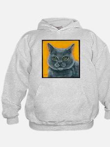 "Russian Blue Cat ""Bill the Pickle"" Hoodie"