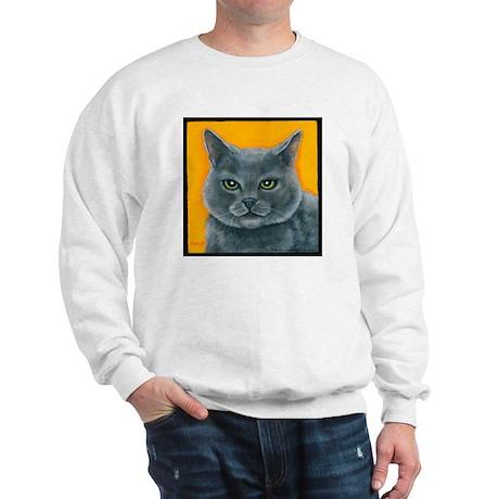 "Russian Blue Cat ""Bill the Pickle"" Sweatshirt"