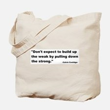 Calvin Coolidge Quote Tote Bag
