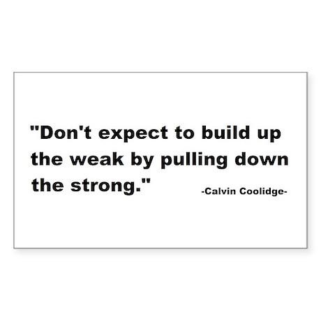 Calvin Coolidge Quote Sticker (Rectangle)
