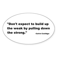 Calvin Coolidge Quote Sticker (Oval 10 pk)