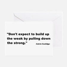 Calvin Coolidge Quote Greeting Card