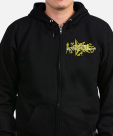 I ROCK THE S#%! - MASSAGE THERAPY Zip Hoodie