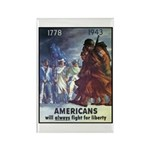 Fight for Liberty Poster Art Rectangle Magnet