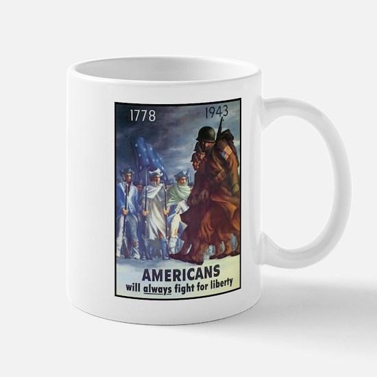 Fight for Liberty Poster Art Mug