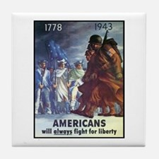 Fight for Liberty Poster Art Tile Coaster