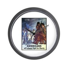 Fight for Liberty Poster Art Wall Clock