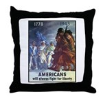 Fight for Liberty Poster Art Throw Pillow