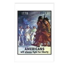 Fight for Liberty Poster Art Postcards (Package of